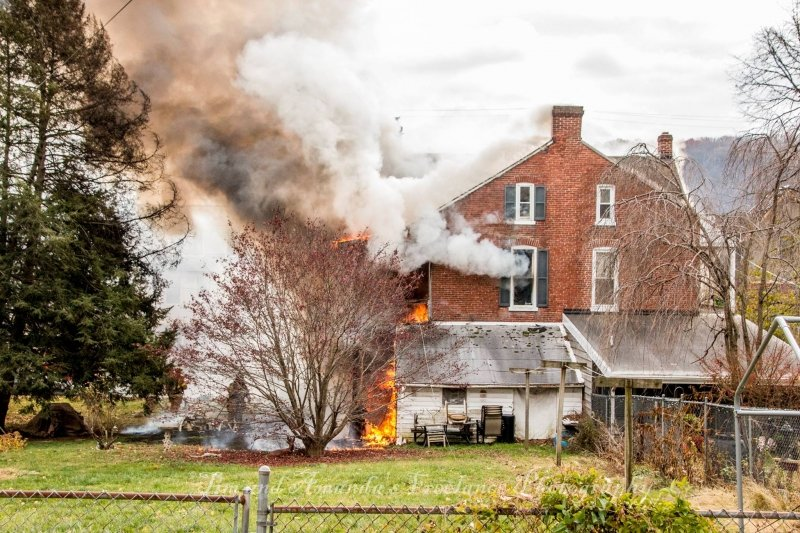 Tower takes in Marietta Borough House Fire